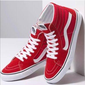 Vans SK8 hi Pro Red Men's Size 10.5.
